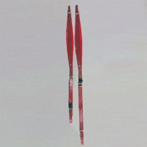 Paires de bretelles en cuir avec un rembourrage velours